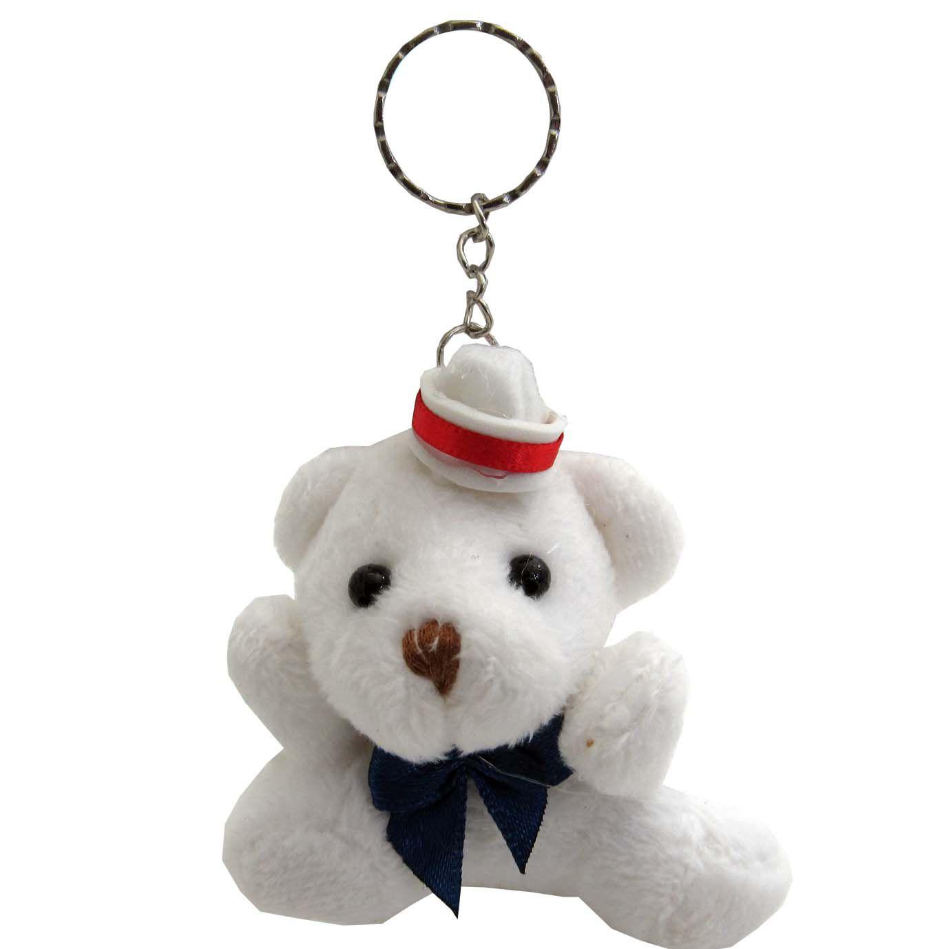Lembrancinha Chaveiro Urso Branco - Marinheiro