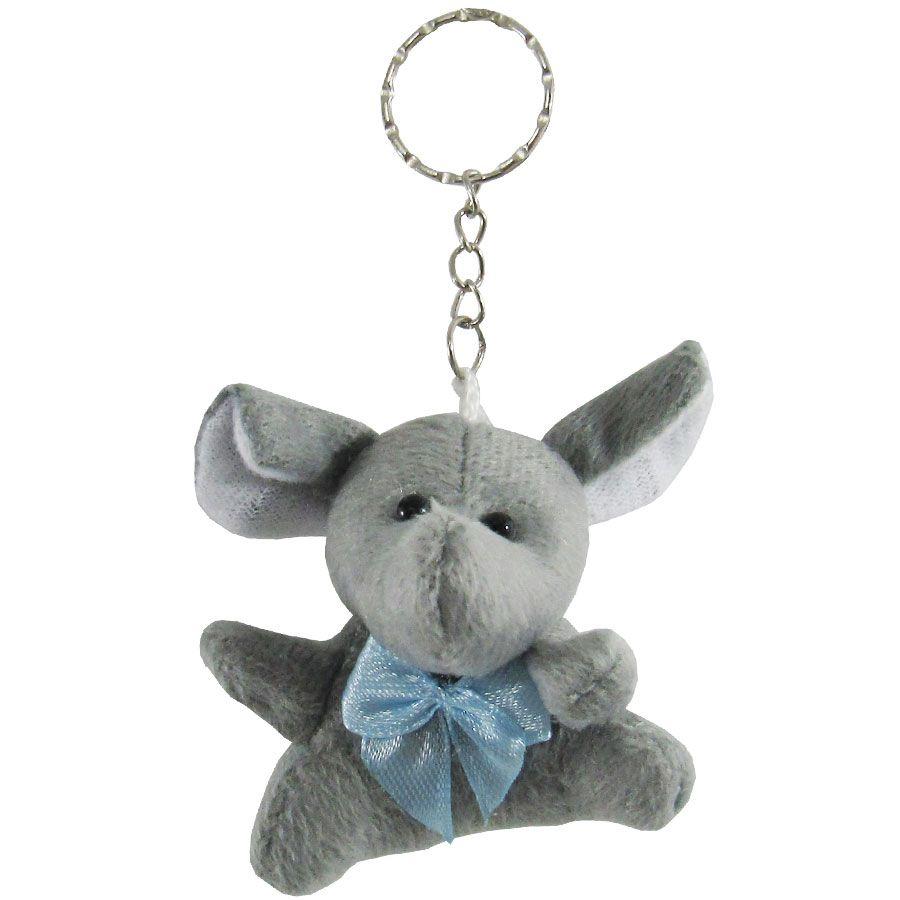 Lembrancinha Elefante Chaveiro - Laço Azul