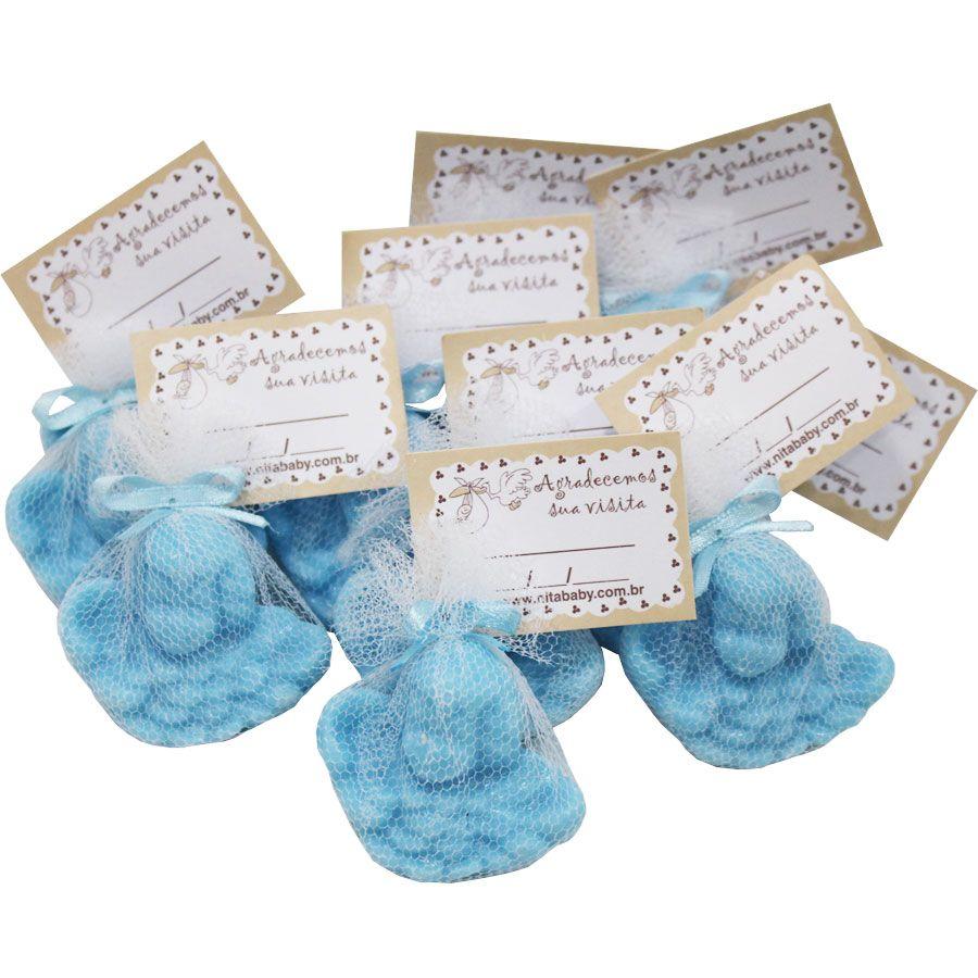 Lembrancinha Sabonete Anjinho com Tag - Azul