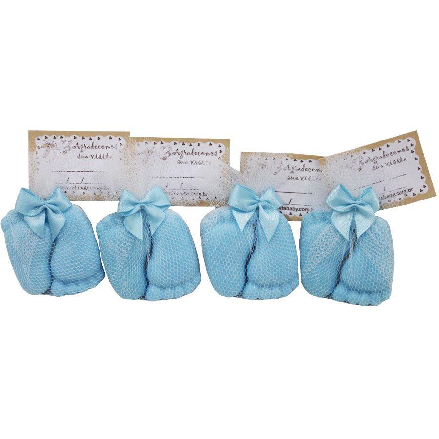 Lembrancinha Sabonete Pézinho com Tag - Azul