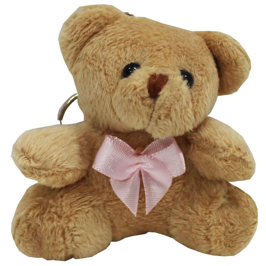 Lembrancinha Ursa Chaveiro - Com Laço Rosa