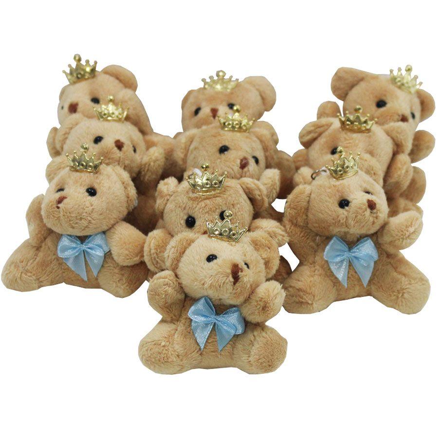 30 Lembrancinhas menino Maternidade - Urso Chaveiro azul claro