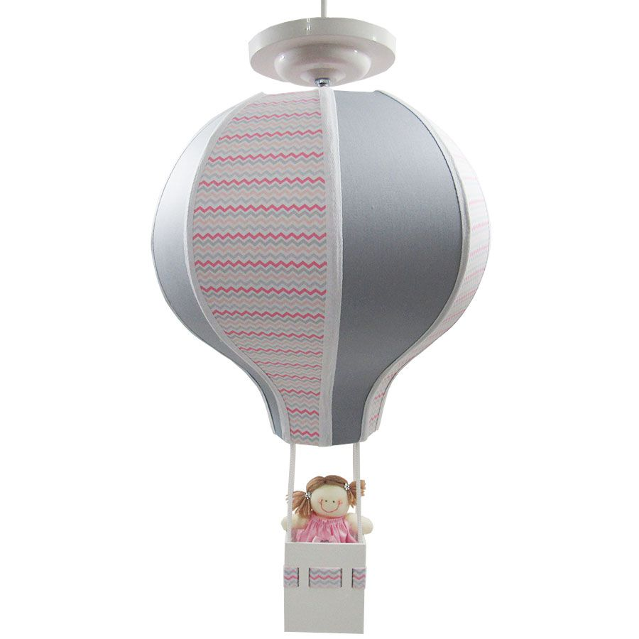 Luminária Lustre Balão Feminino - Chevron