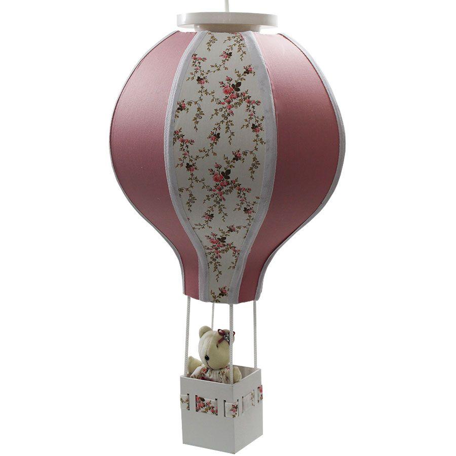 Luminária Lustre Balão - Decoração Provençal - Menina