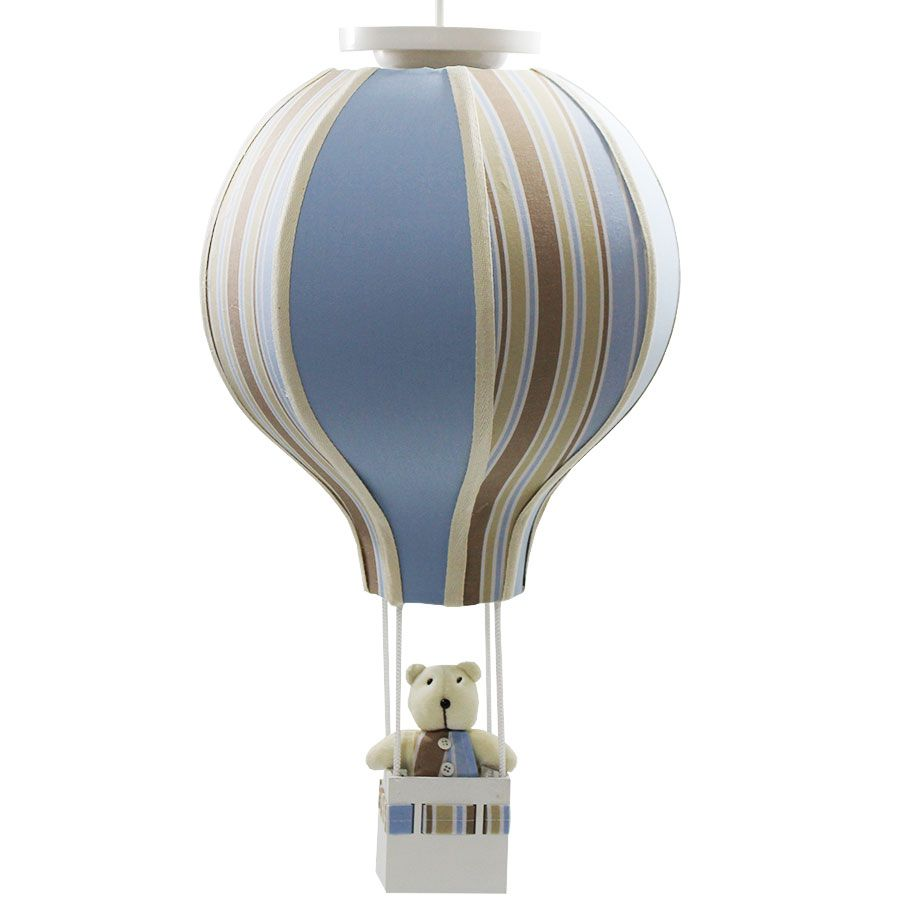 Luminária Lustre Balão - Decoração Listras - Menino