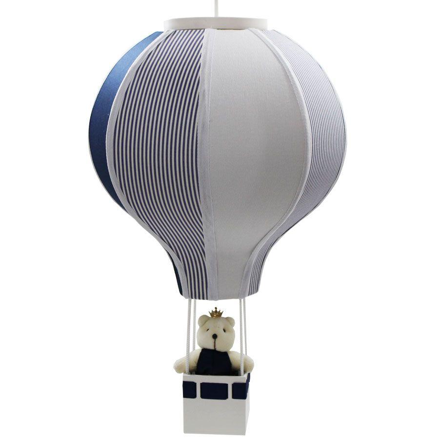 Luminária Lustre Balão Menino -  Rei Azul Marinho