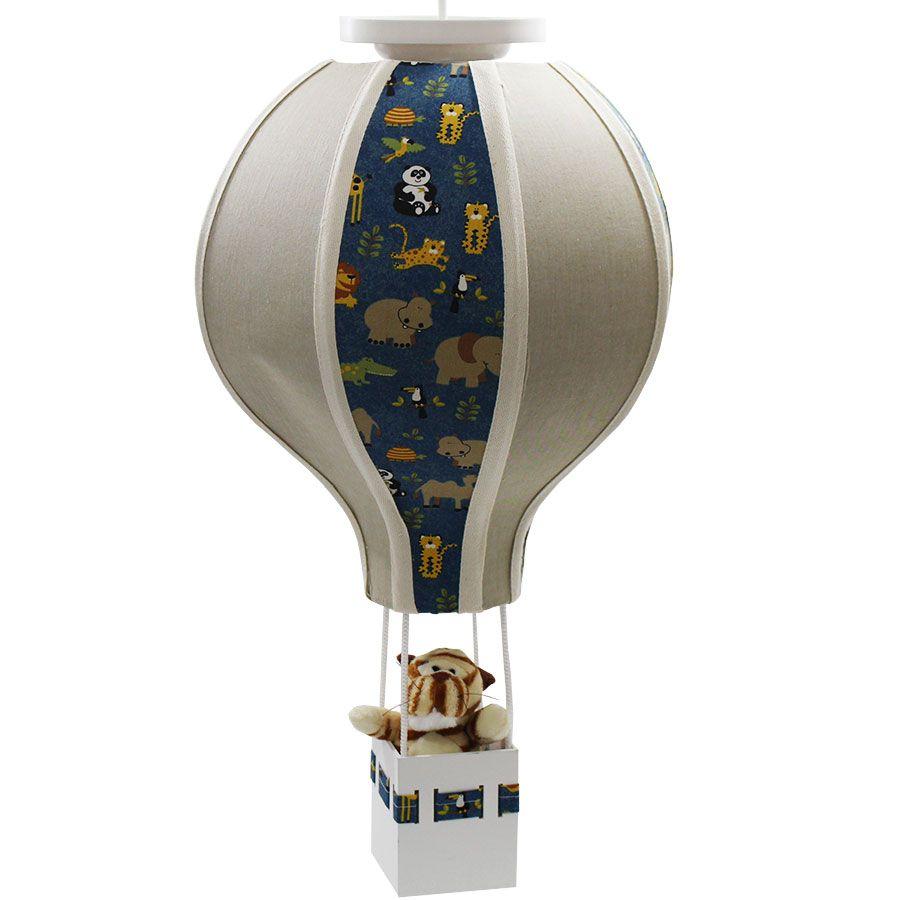 Luminária Lustre Balão Menino - Selva