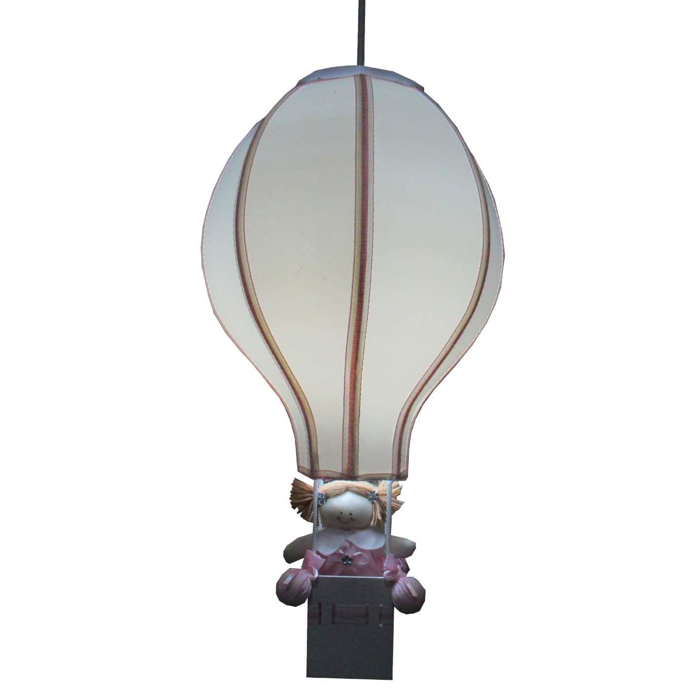 Luminária Lustre Balão - Natural Menina