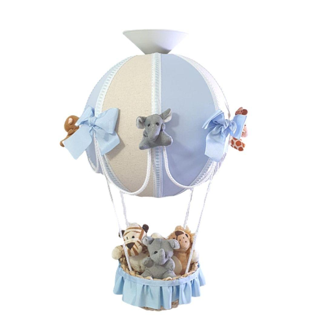Luminária Lustre De Teto Bola Safari Avião Cesta Decoração Quarto de Bebê