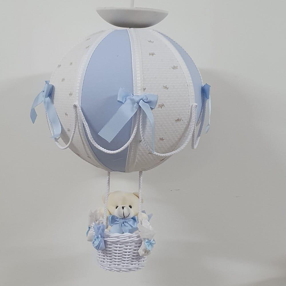 Lustre Bebê De Teto Bola Príncipe Azul Claro