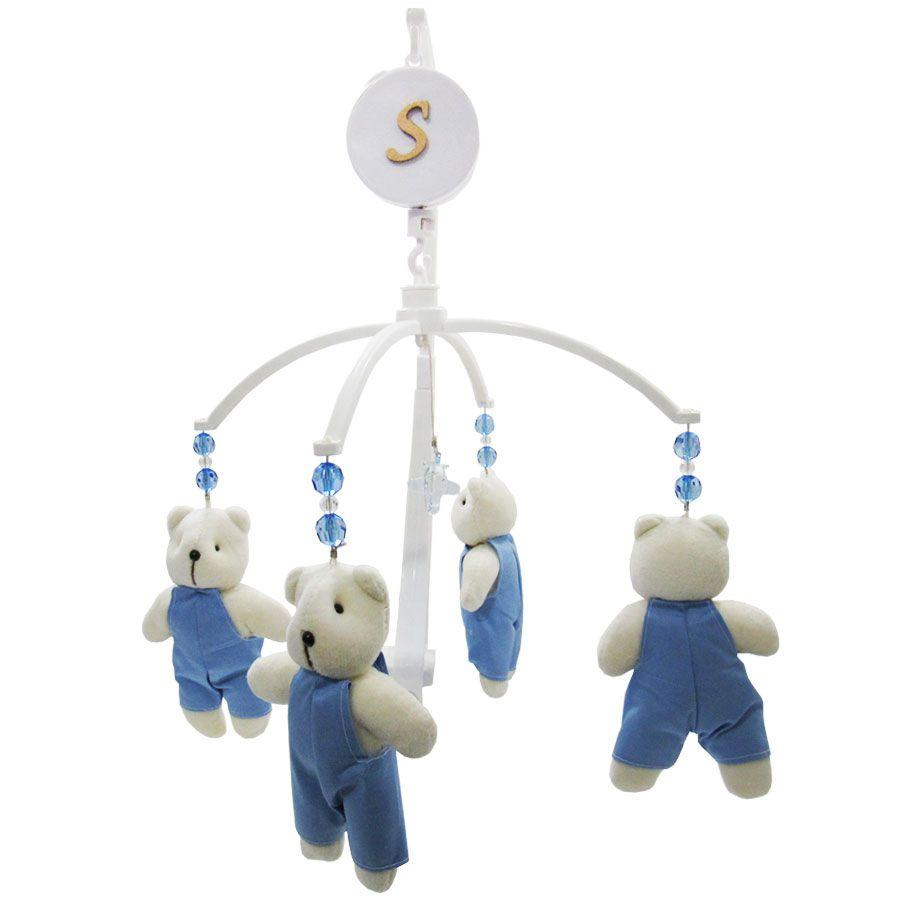 Mobile Musical Giratório de Berço - Urso Azul