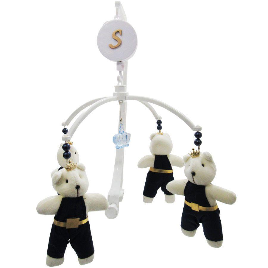Mobile Musical Giratório de Berço - Urso Azul Rei