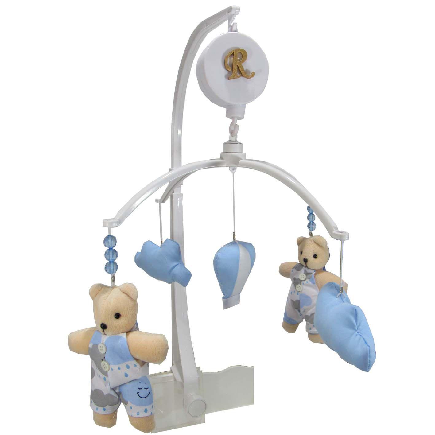 Mobile Musical Giratório de Berço - Urso e Balão