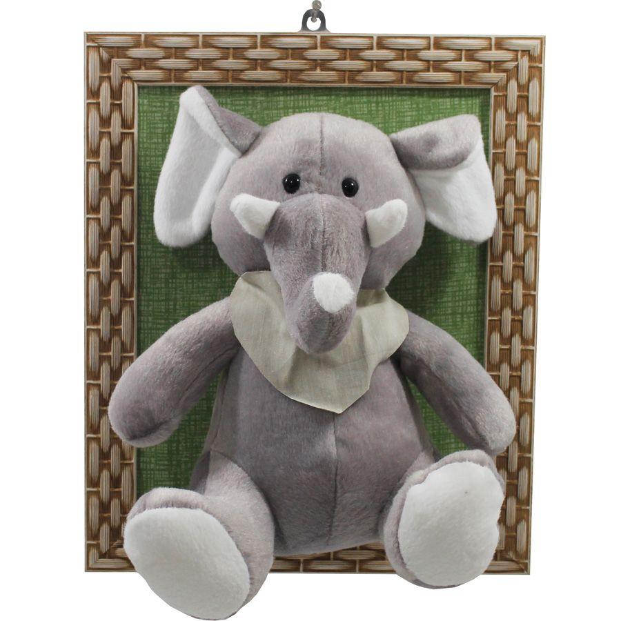 Quadro Com Moldura Selva - Elefante