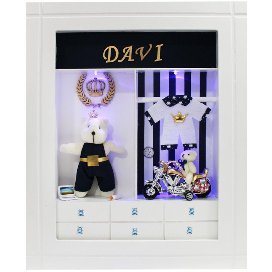 Quadro Porta Maternidade Closet - Azul Rei
