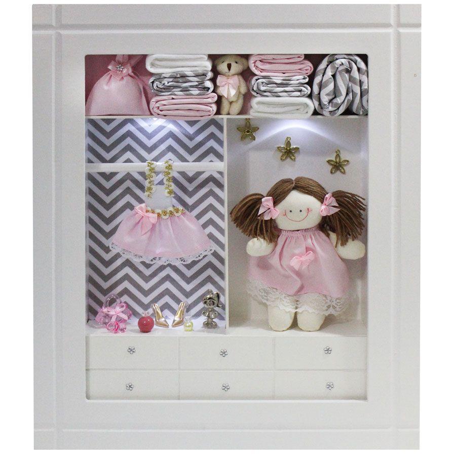 Quadro Porta Maternidade Closet - Chevron