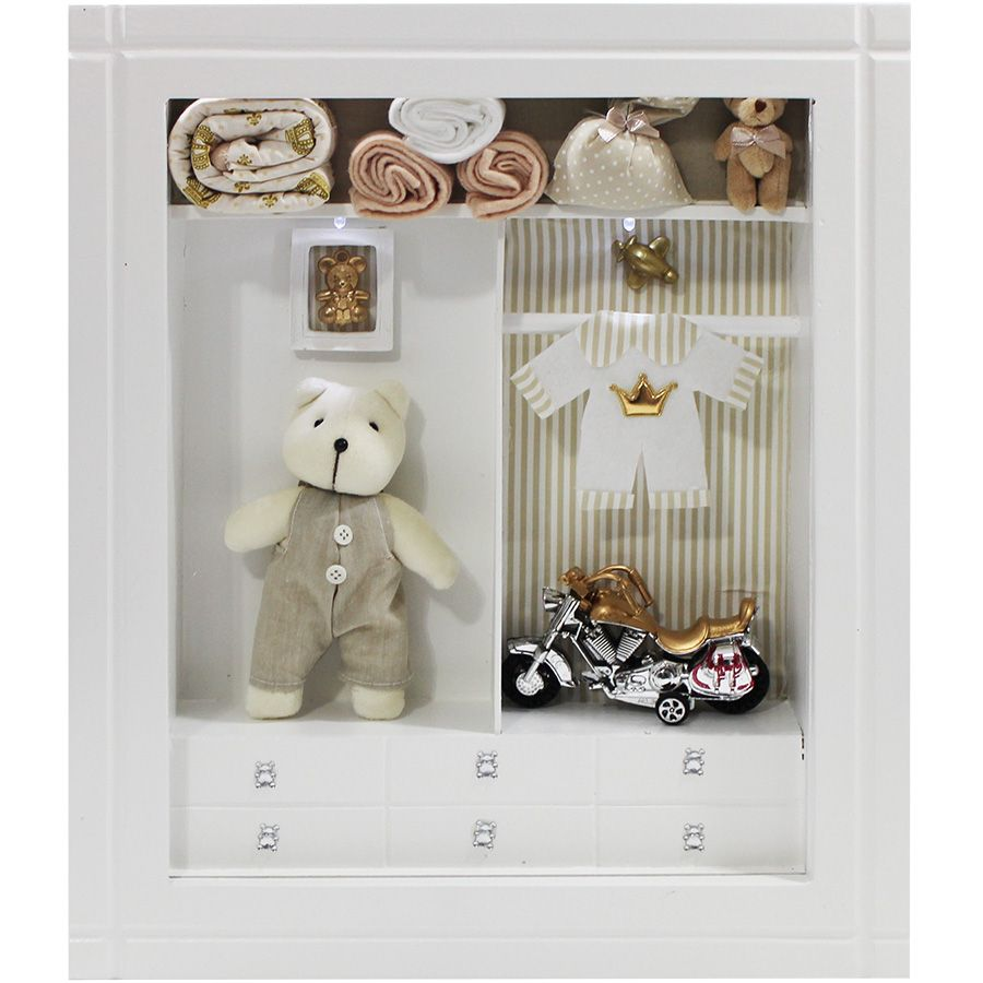Quadro Porta Maternidade Closet - Listra