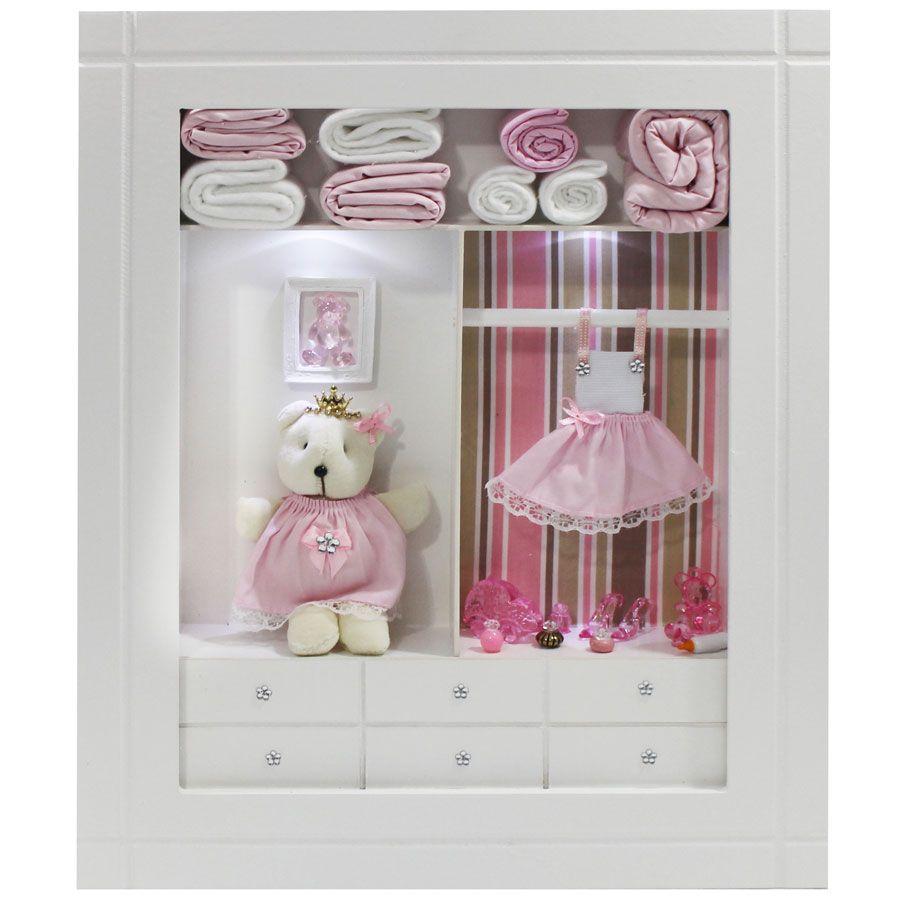 Quadro Porta Maternidade Closet - Listras