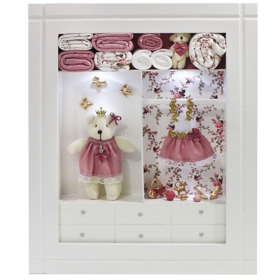 Quadro Porta Maternidade Closet - Provençal