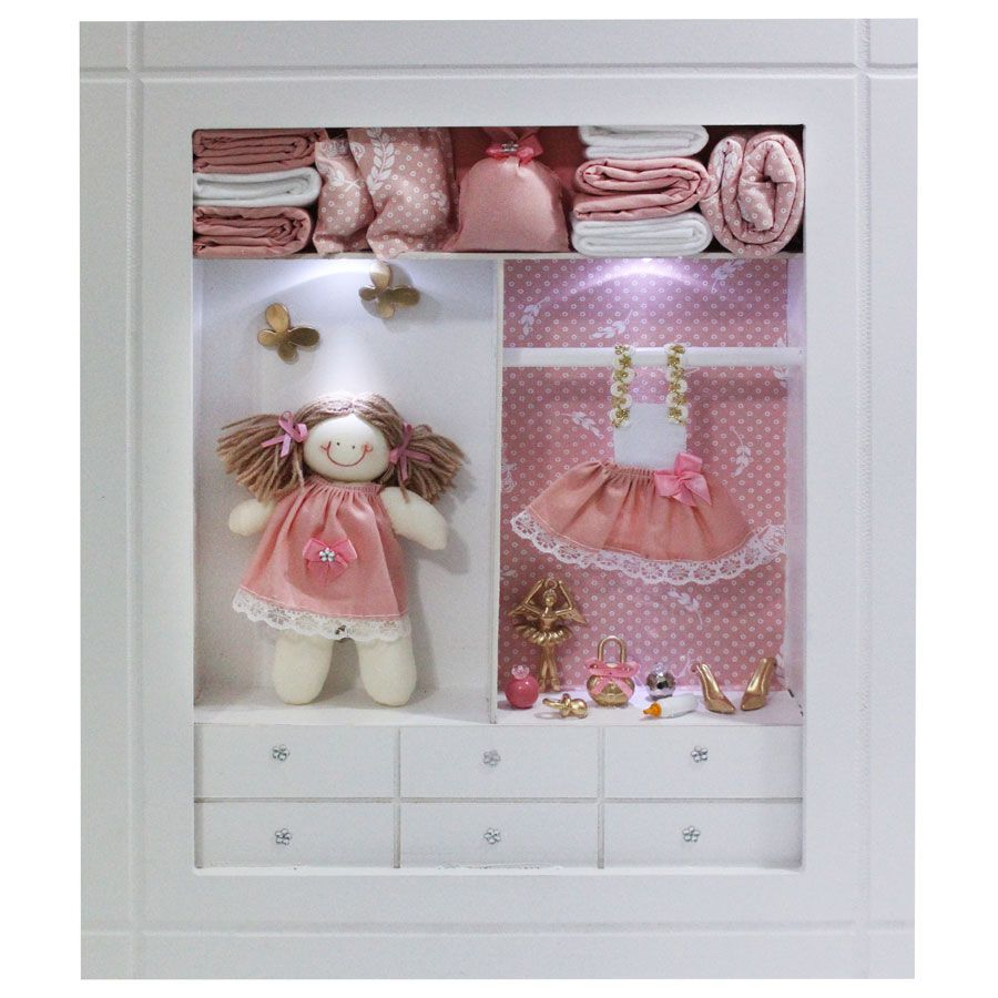 Quadro Porta Maternidade Closet - Rose