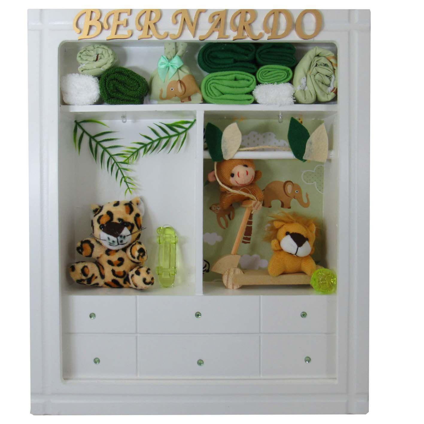Quadro Porta Maternidade Closet - Selva
