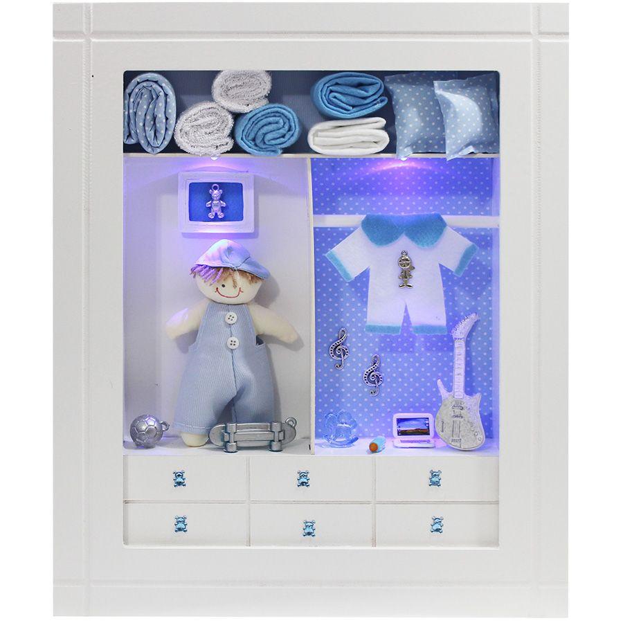 Quadro Porta Maternidade Closet - Sortido Menino