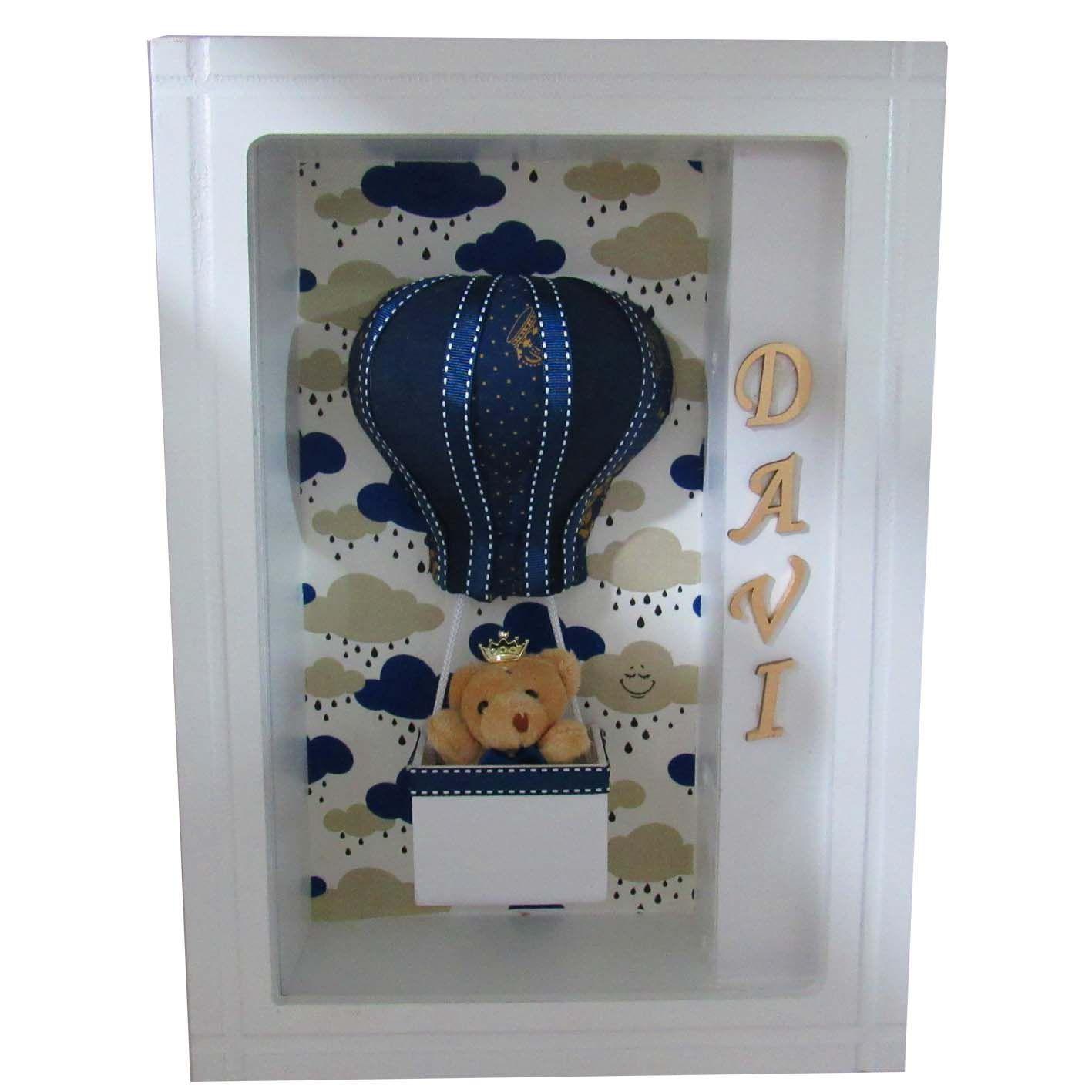 Quadro Porta Maternidade - Meio Balão Menino