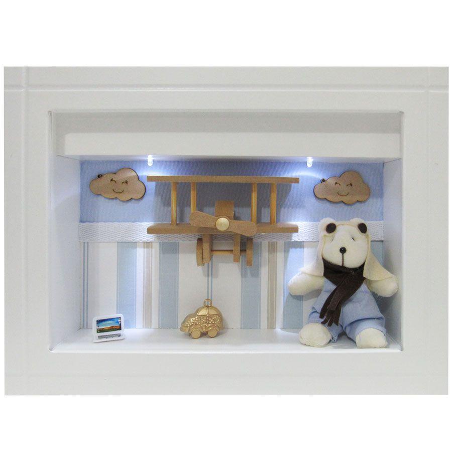 Quadro Porta Maternidade - Urso Aviador