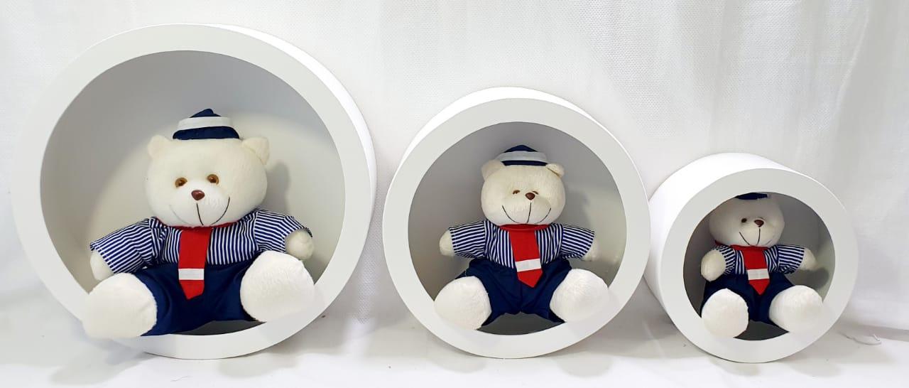 Trio De Urso Marinheiro Decoração Quarto De Bebê - Nitababy
