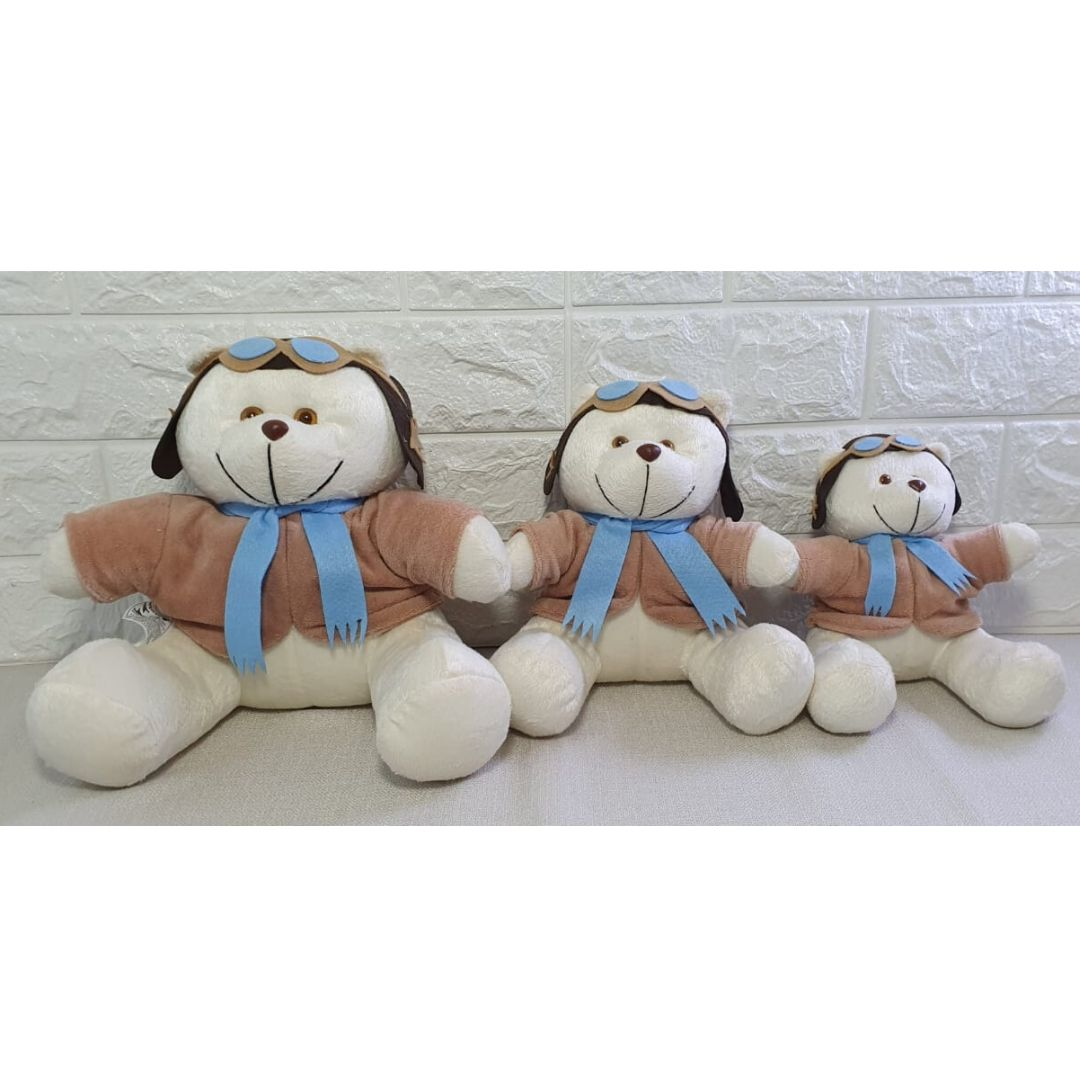 Trio de ursos Aviador decoração quarto de bebê infantil-Nitababy