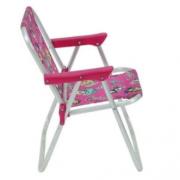 Cadeira De Praia - Bel Fix Infantil Barbie Aluminio