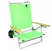 Cadeira De Praia - Bel Fix Malibu 5 Posiçoes Aluminio Verde