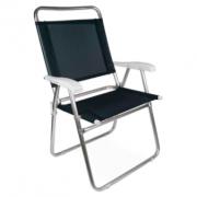 Cadeira De Praia - Mor Master Aluminio Preta