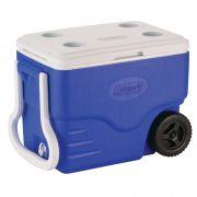 Caixa Térmica 40QT com Rodas Azul - Coleman
