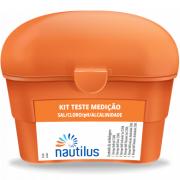Kit Teste Para Piscina Medição 4 em 1 - Cloro, PH, Alcalinidade e Sal.