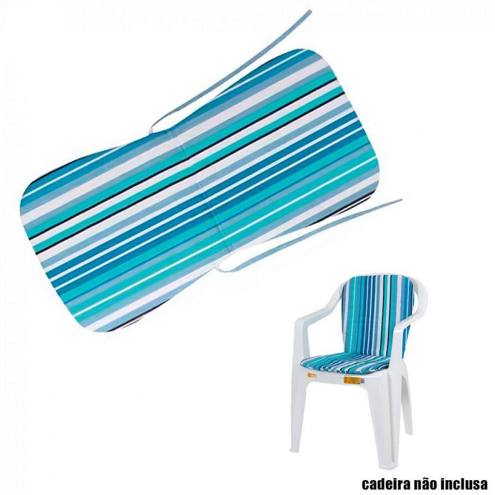 Almofada para Cadeira Linea Azul - Mor