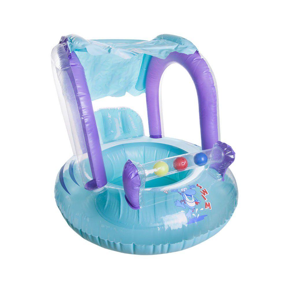 Boia Piscina Bote Infantil Baby Seat Ring C/ Cobertura Para Bebe Ntk