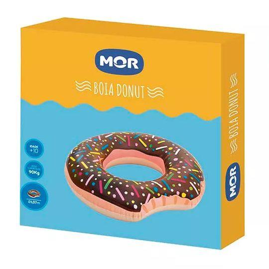 Boia Piscina Gigante Divertida Donut Chocolate Mor