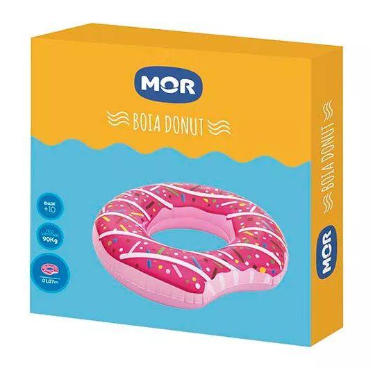 Boia Piscina Gigante Divertida Donut Morango Mor