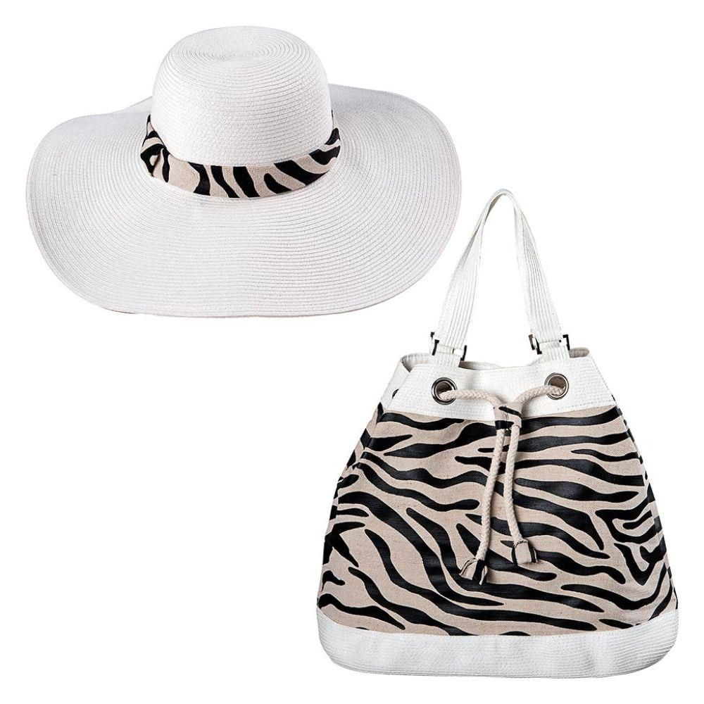 Bolsa e Chapéu Savage - Mor
