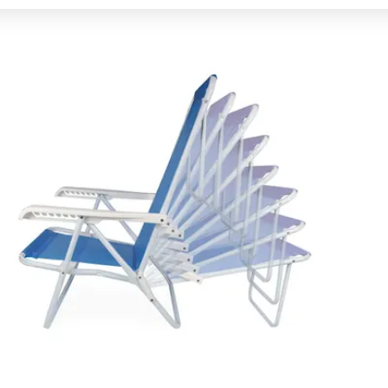 Cadeira de Praia 8 Posições Aço - Mor