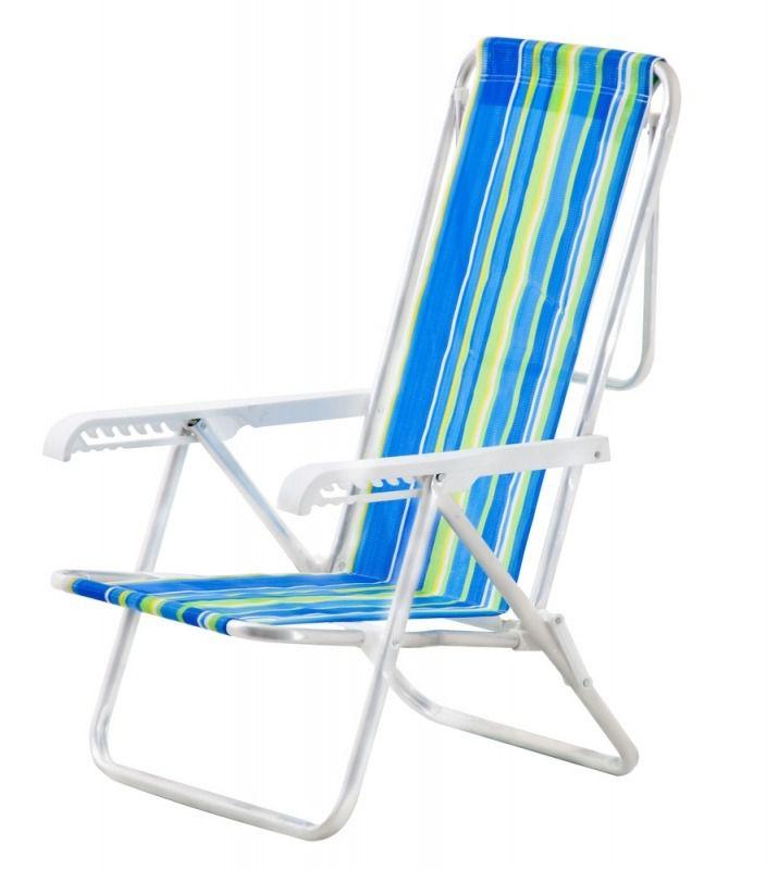 Cadeira de Praia 8 Posições Alumínio - Mor
