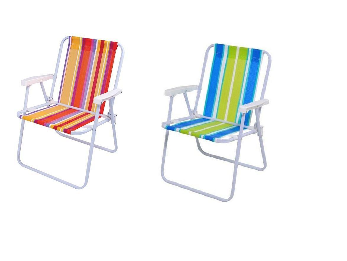 Cadeira de Praia Alta Aço - Mor