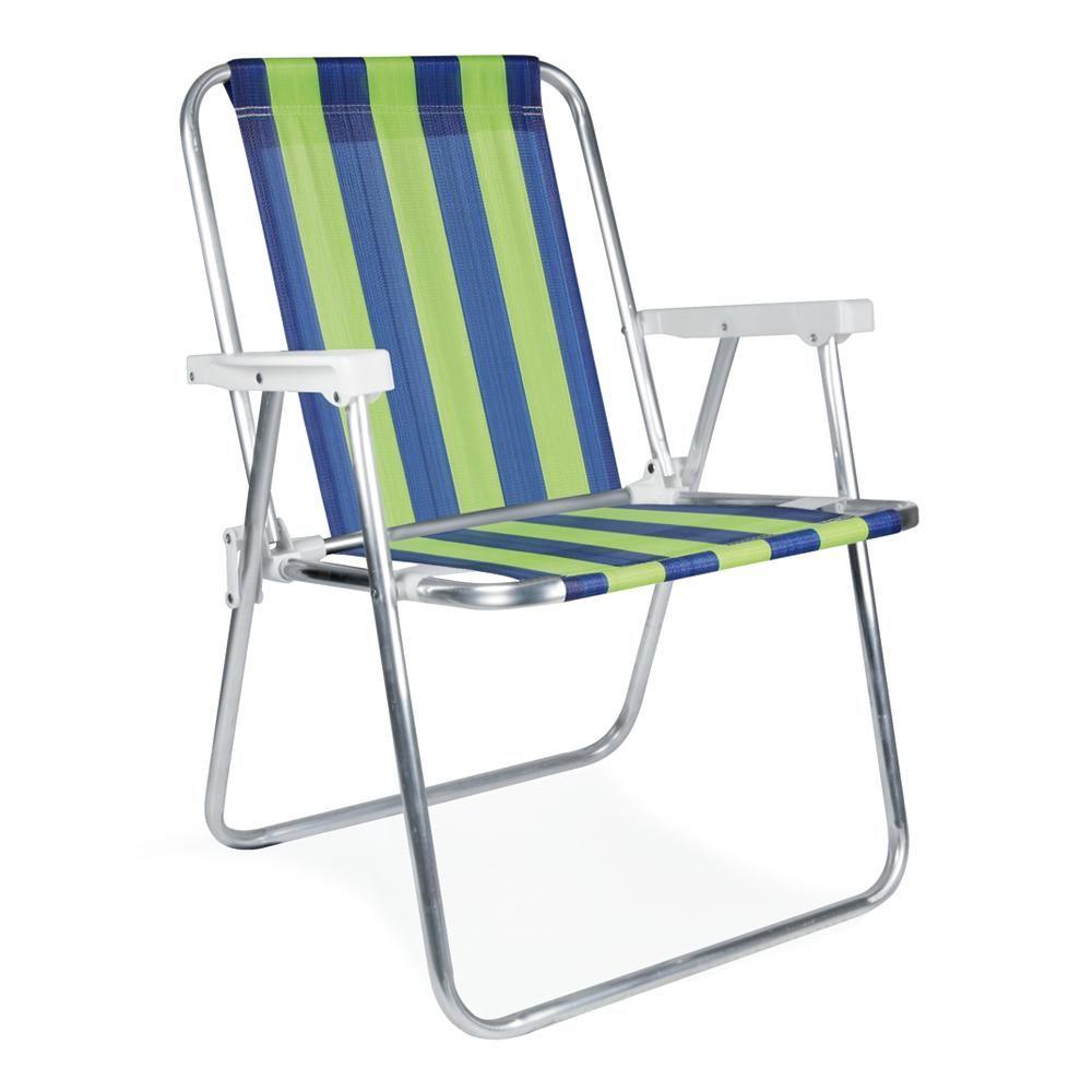 Cadeira de Praia Alta Alumínio - Mor
