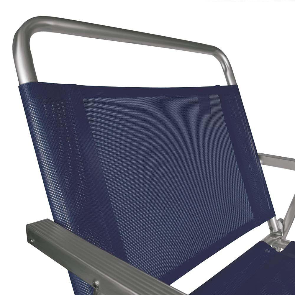 Cadeira de Praia Alta Oversize Azul Alumínio - Mor