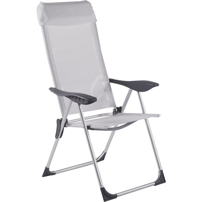 Cadeira De Praia - Bel Fix Alta Textilene 5 Posiçoes Branco