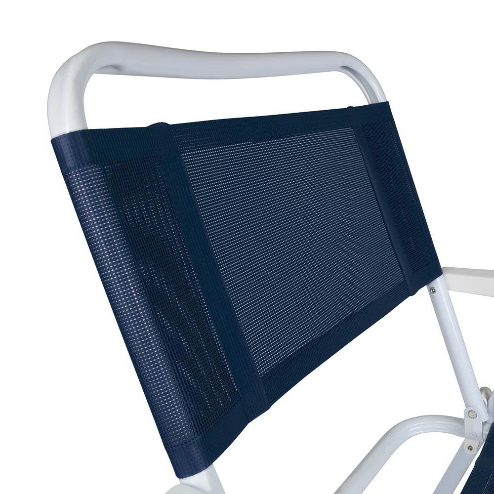 Cadeira de Praia Master Aço Preta - Mor