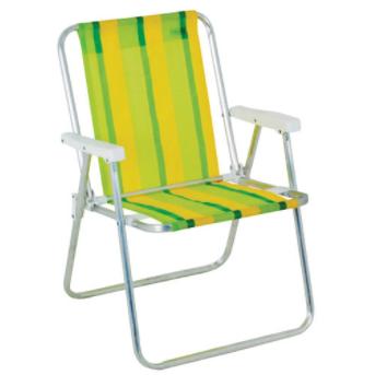 Cadeira De Praia - Mor Alta Aluminio