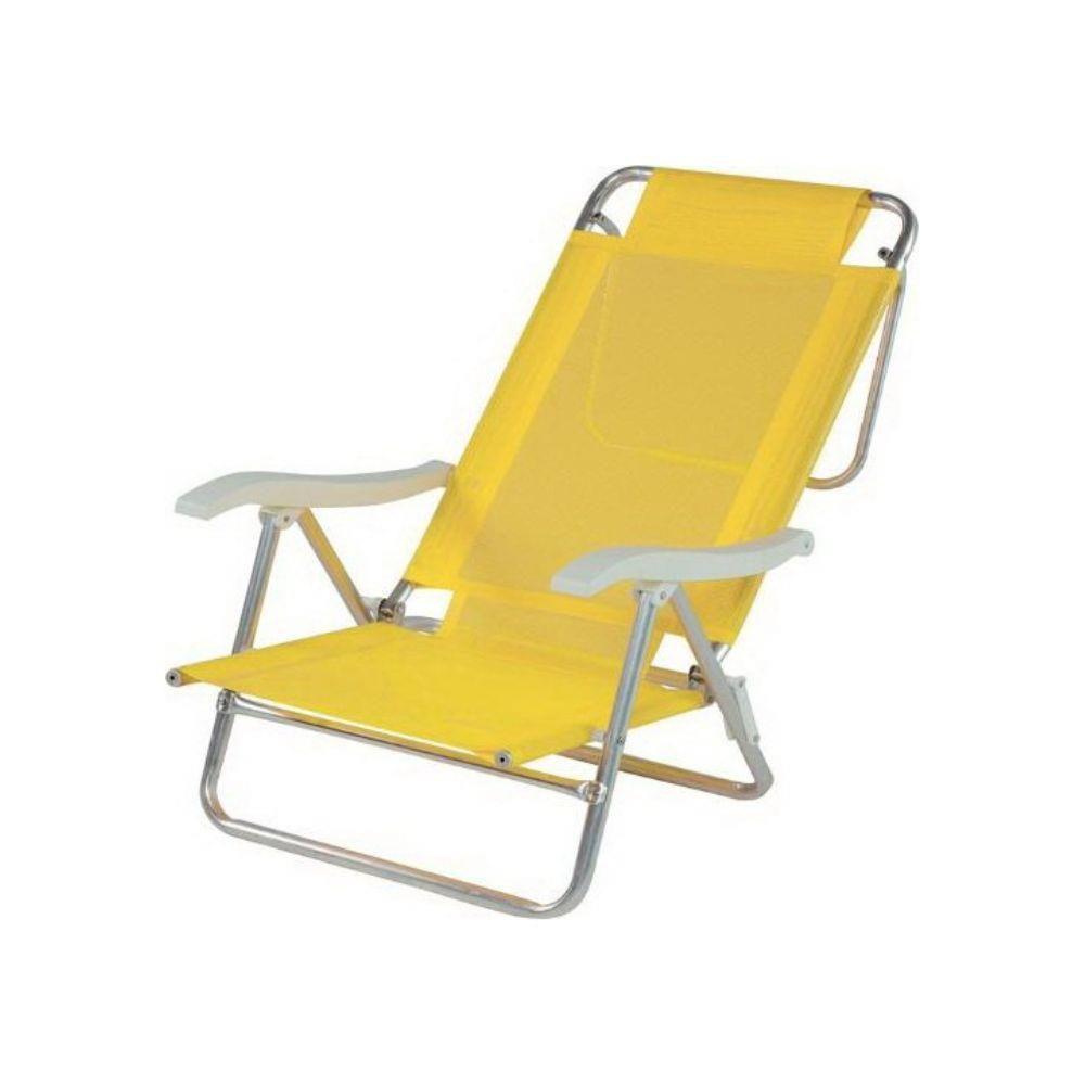 Cadeira de Praia Sol de Verão Summer Amarela - Mor