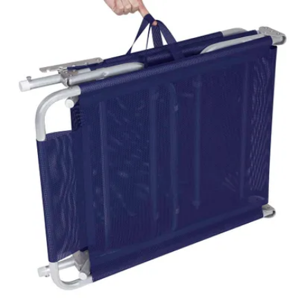 Cadeira Espreguiçadeira Alumínio Azul com Almofada - Mor